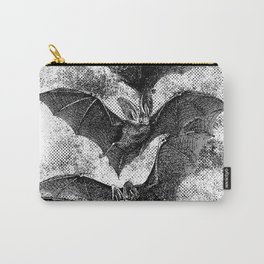 Vintage Halloween Bat Etching Carry-All Pouch