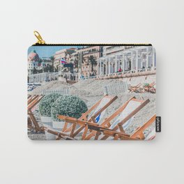 Deck chairs on a beach during spring Carry-All Pouch