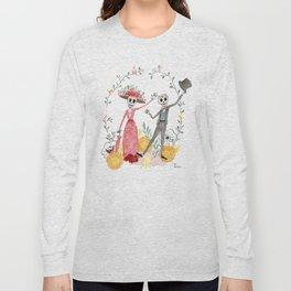 La Catrina y el Catrín Long Sleeve T-shirt