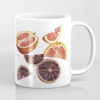 cara Mugs featuring Cara Cara + Blood Oranges by Helen Krayenhoff