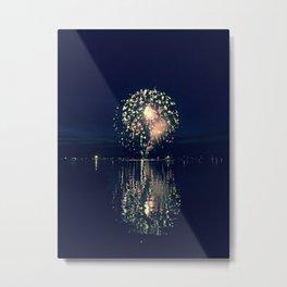 Sparks Across the Lake Metal Print