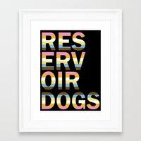 reservoir dogs Framed Art Prints featuring Reservoir Dogs by mgn.russ
