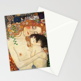 Mother and Baby - Gustav Klimt Stationery Cards