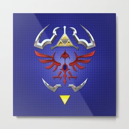 Zelda Shield Triforce Art Logo Metal Print