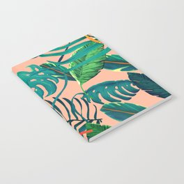 Summer Tropical Leaves Notebook