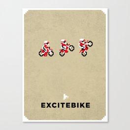 Excitebike Canvas Print