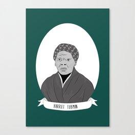 Harriet Tubman Illustrated Portrait Canvas Print