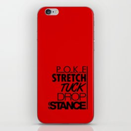 POKE STRETCH TUCK DROP STANCE v6 HQvector iPhone Skin