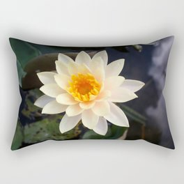 White Water Lily Rectangular Pillow