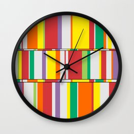 Color Stack Wall Clock