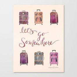 Let's Go Somewhere - Vintage Canvas Print