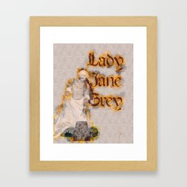 Lady Jane Grey artwork Framed Art Print