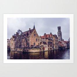 Brugge waterway Art Print