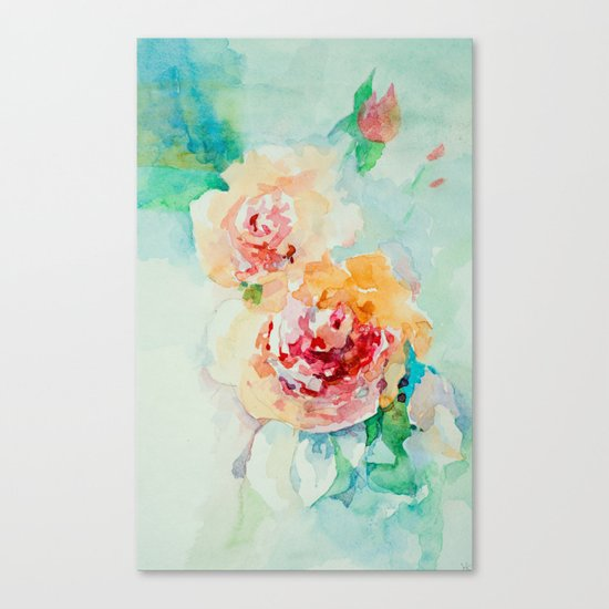 Gentle roses Canvas Print