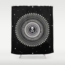 Space Skull & Bones Shower Curtain