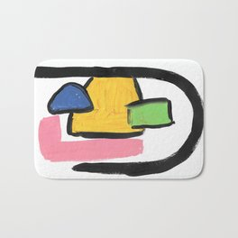 Bright abstract arch Bath Mat