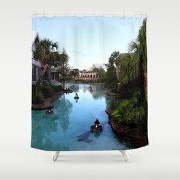 Downtown at Dusk Shower Curtain