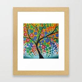 bright tree Framed Art Print