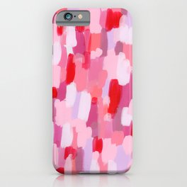 Abstract Painting Pin Pattern Acrylic - Meet Me In The Red Woods iPhone Case