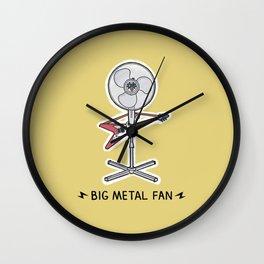 Big Metal Fan Wall Clock