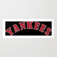 yankees Art Prints featuring Boston Yankees by jekonu