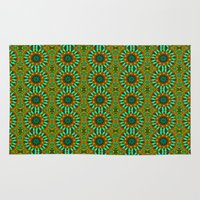 green pattern Area & Throw Rugs featuring Green Pattern by Art-Motiva