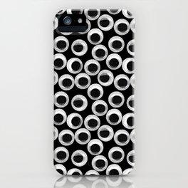 Googly eye pattern – black iPhone Case