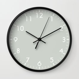 Gray Grey Sea Salt Wall Clock