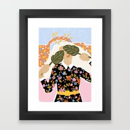 I Can't See You Framed Art Print