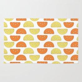 Orange Slices Pattern Rug