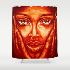 look at me /red/ Shower Curtain