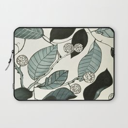 Black and white leaves Laptop Sleeve
