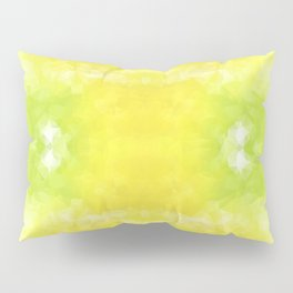 """Lemon jello"" triangles design Pillow Sham"