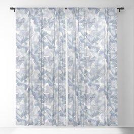 Lotus Wave in Blue Sheer Curtain