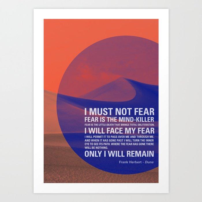 Litany Against Fear Kunstdrucke