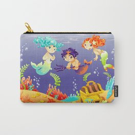 Baby Sirens and Baby Triton with background. Carry-All Pouch