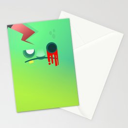 Zombie cube Stationery Cards