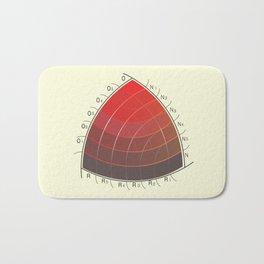 Le Rouge-Orangé (ses diverses nuances combinées avec le noir) Remake Bath Mat