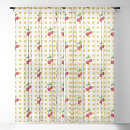Cherries Sheer Curtain