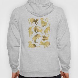 Cat Positions – Gold Palette Hoody