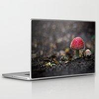 mushroom Laptop & iPad Skins featuring mushroom by Kalbsroulade
