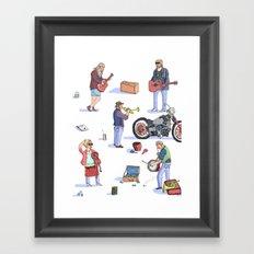 Music Poster! Framed Art Print