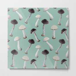Under the Table and Dreaming Mushroom Print No. 1 Metal Print