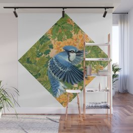 Autumn Song: Blue Jay and Cassia Wall Mural