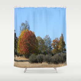 Beautiful Fall colours in Hayfork, California... Shower Curtain