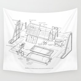 Korg MS-10 - exploded diagram Wall Tapestry