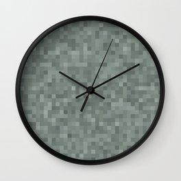 Gray simple geometric pattern Wall Clock