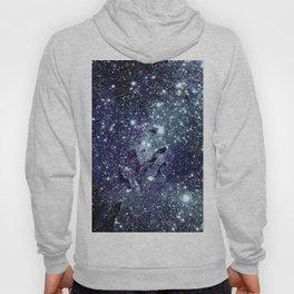 The Eagle Nebula / Pillars of Creation Midnight Indigo Teal Blue Hoody