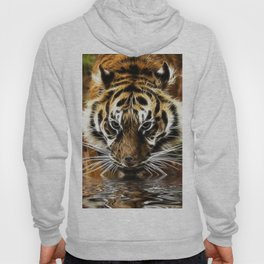 Tiger at the water's edge Hoody