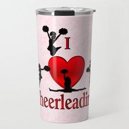 I Heart Cheerleading Travel Mug